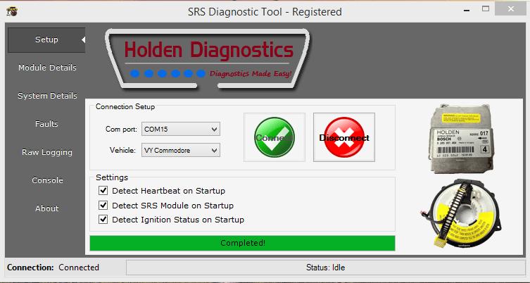 SRS Diagnostic Tool